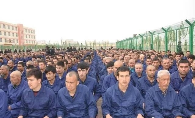 One of the few photos taken inside a Xinjiang internment camp in Hotan, April 2017 (Image from Twitter user @uyghur_nur)