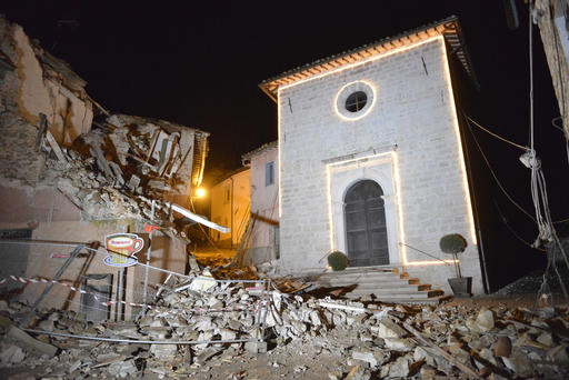 義大利中部又地震 建築倒塌交通中斷