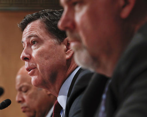FBI Director James Comey testifies on Capitol Hill