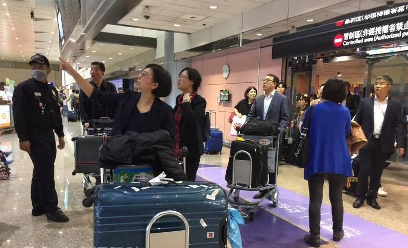 A Chinese agriculture produce and gift industry delegation arrived in Taiwan on Monday to visit the eight counties and cities ruled by the KMT, skippi...