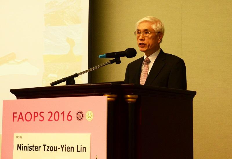 衛福部林奏延部長應邀參加2016亞大周產期醫學會年會開幕致詞。