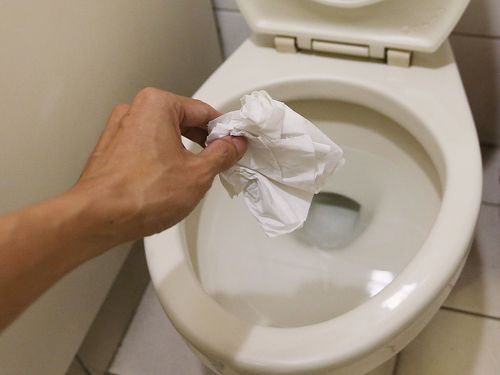 EPA now recommends flushing toilet paper instead of tossing in trash.