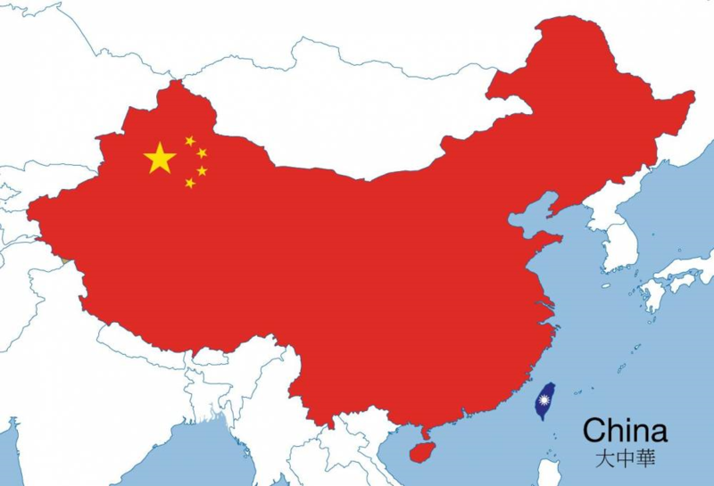 "Map titled ""Greater China."""
