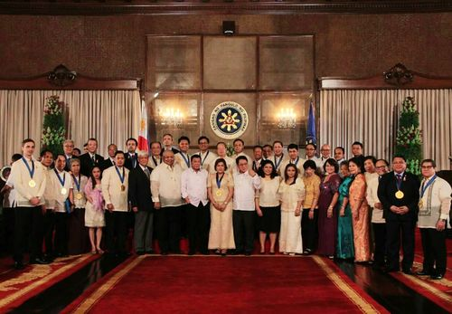 Taiwan-based Buddhist charity Tzu Chi Foundation was presented with the Philippines Presidential Award in Manila