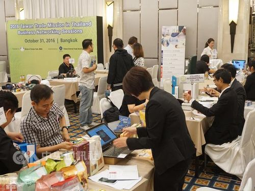 Taiwanese exhibitors at a trade show in Thailand in October.