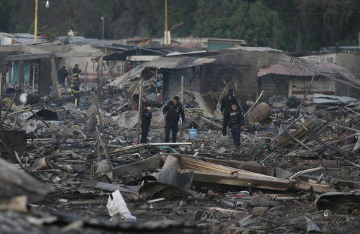 At least 29 dead after explosion rips apart fireworks market outside Mexico City