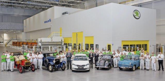 Škoda第1900萬輛新車歡慶下線