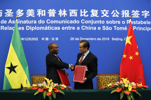 China resumes ties with Sao Tome in blow to Taiwan