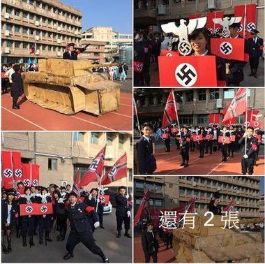 Student lashes out against criticism and penalties heaped upon class cosplaying Nazis