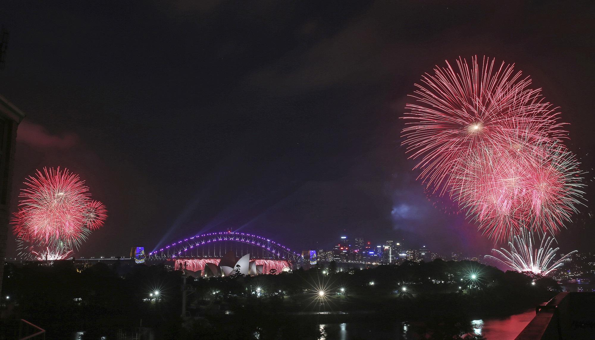 澳洲雪梨跨年煙火(圖片來源:美聯社)