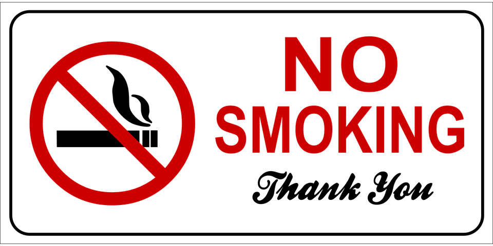 No Smoking sign (Image by Clker-Free-Vector-Images on Pixabay)