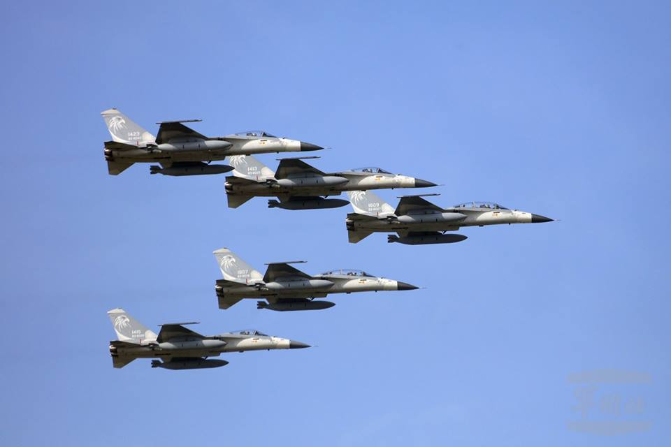 Squadron of Taiwanese IDF jets (Photo from @MilitarySpokesman FB page)