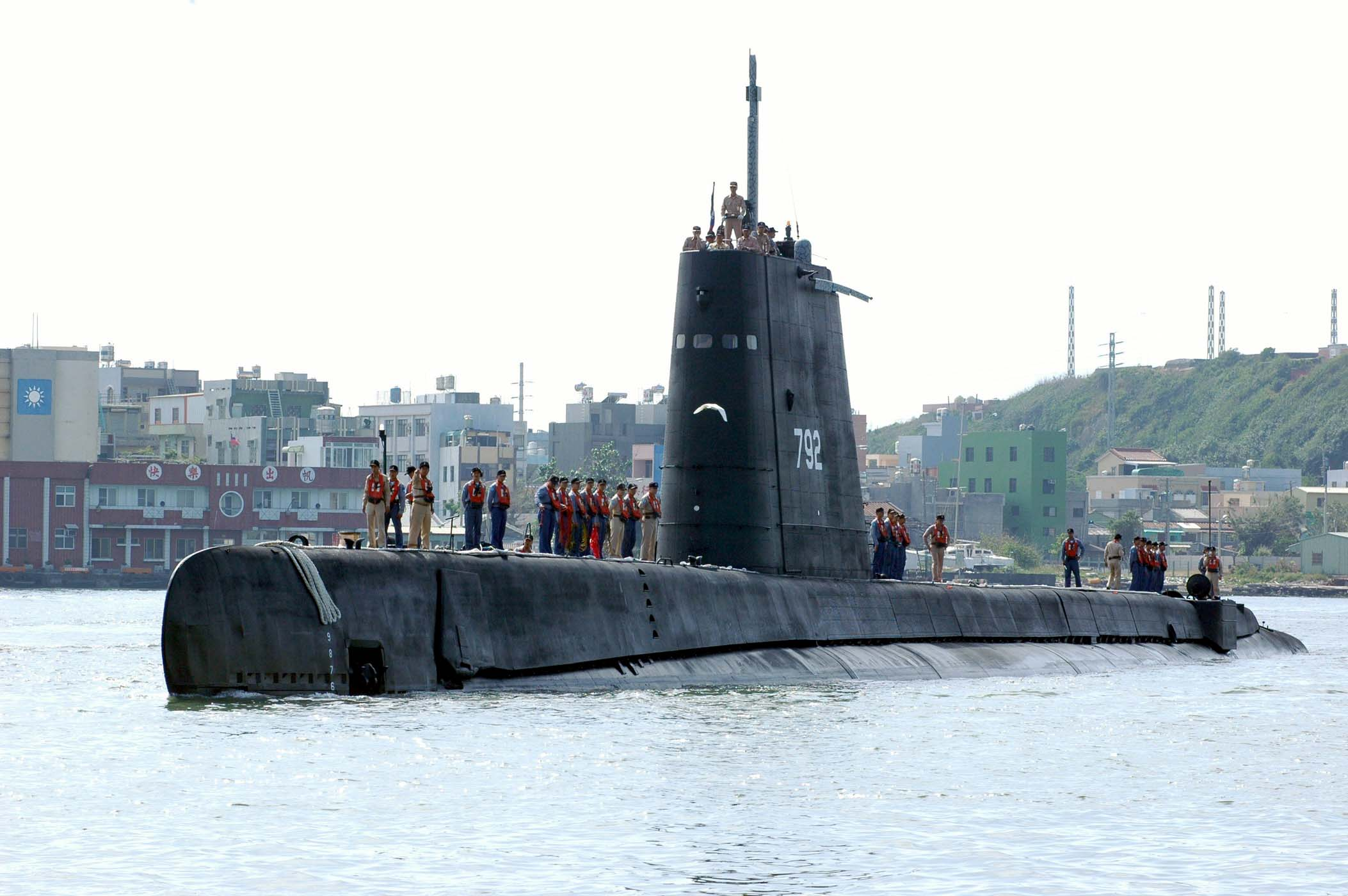 The photo shows the oldest submarine in Taiwan. (Photo courtesy of Military News Agency)