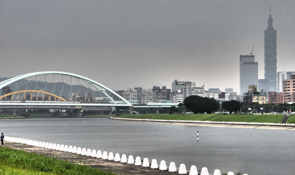 Riverside park in Taipei