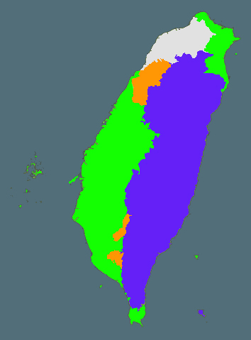 Map of Taiwan's living languages