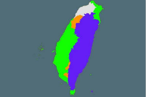 Map of Taiwan's languages (Island Folklore)