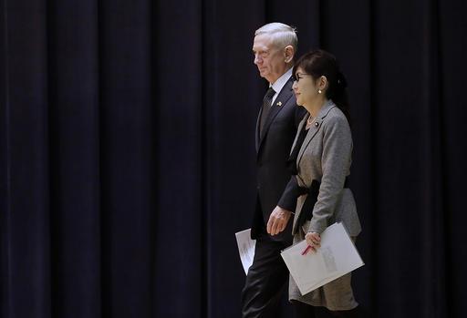 馬提斯表示,美國會協防日本管理下的所有領土,包括釣魚台列嶼。(圖片來源:AP)