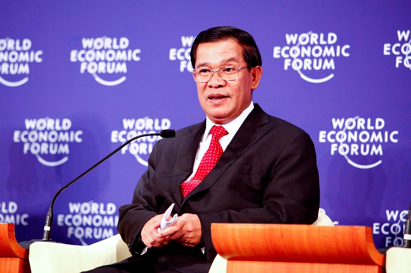 Cambodian Prime Minister Hun Sen made a public announcement to ban the 'Taiwanese flag'