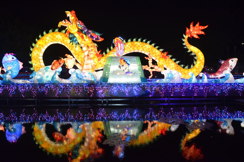 2017台灣燈會在雲林 北港燈區7日點燈