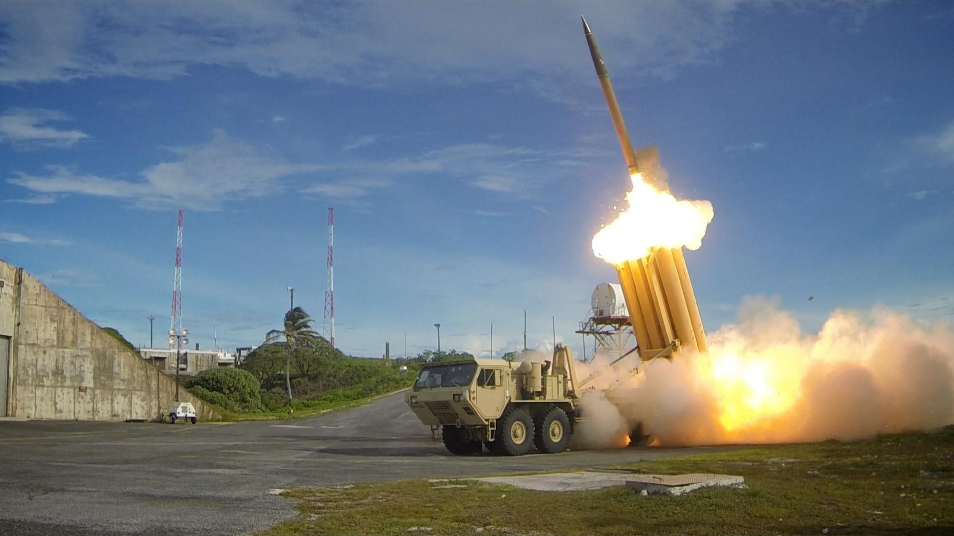 Terminal High Altitude Area Defense (THAAD) interceptor is launched during test.