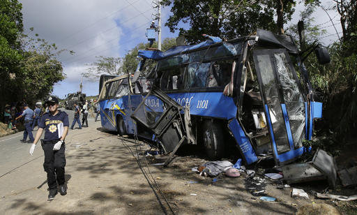 10 dead in Tanay tourist bus accident