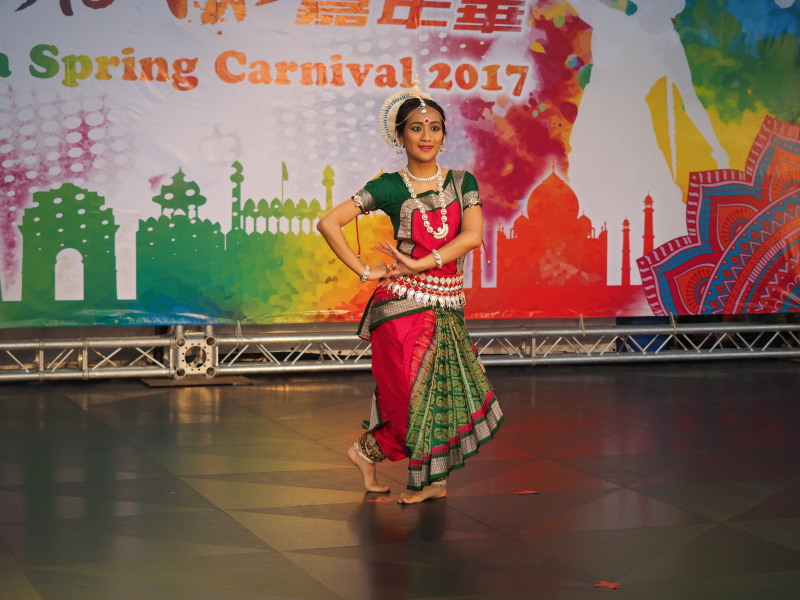 Dancer at India Spring Carnival in New Taipei