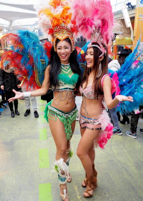 Samba dancer Elsie Sung
