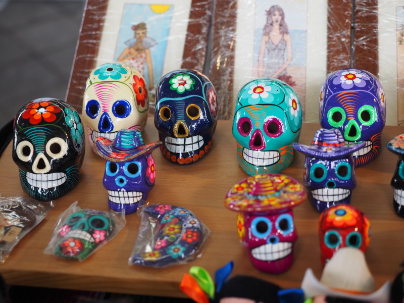 Mexican Day of the Dead decorative skulls