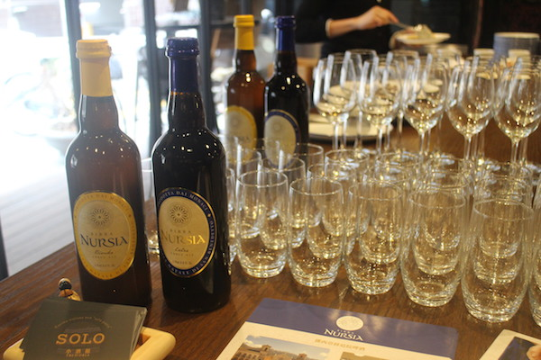 Birra Nursia Blonde (left) and Birra Nursia Extra (right) brewed by The Monks of Norcia in Italy.
