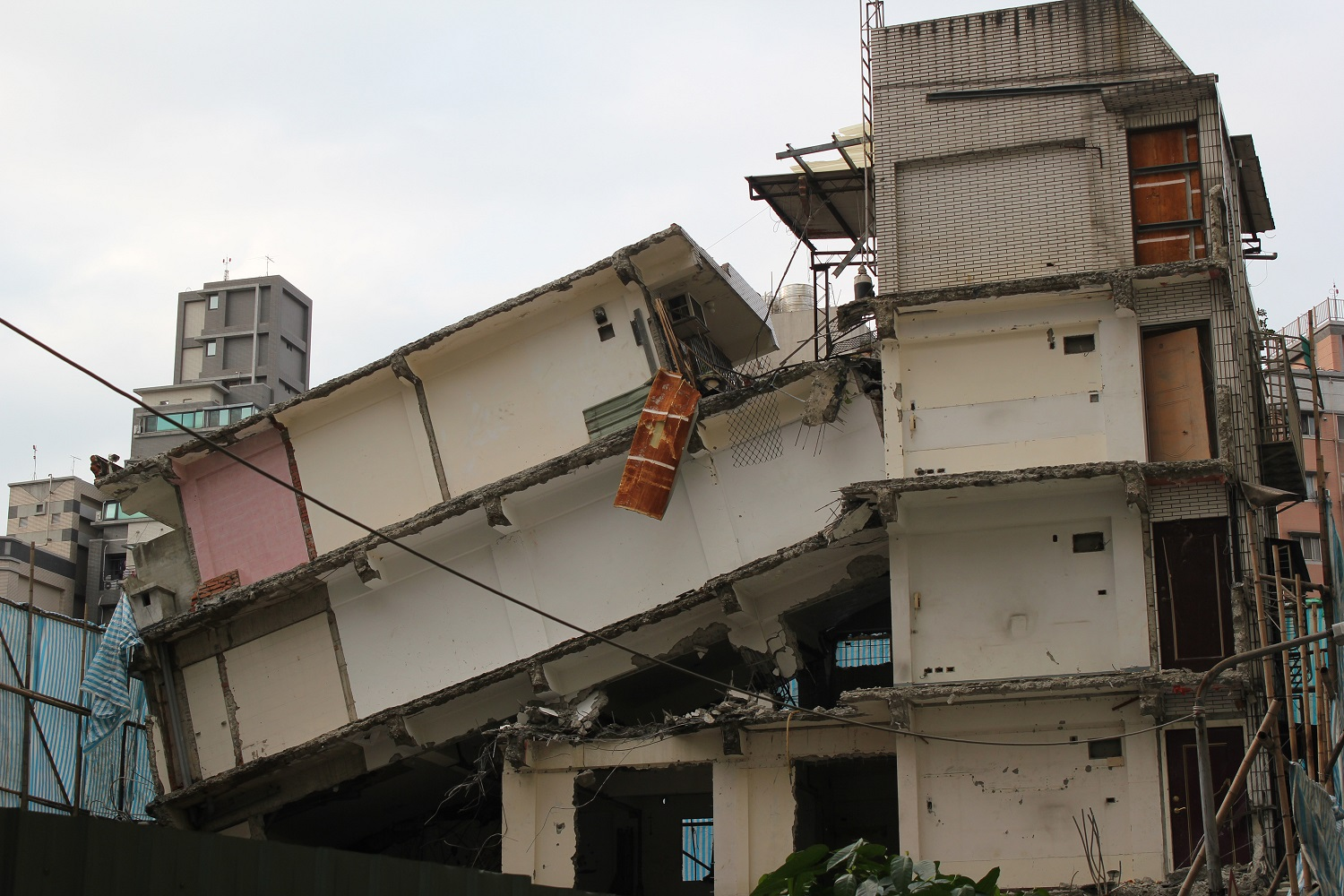 Ruins of what once was Chang's home on building's fourth floor.