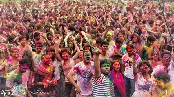 Image of Holi Festival courtesy Mayur Indian Kitchen