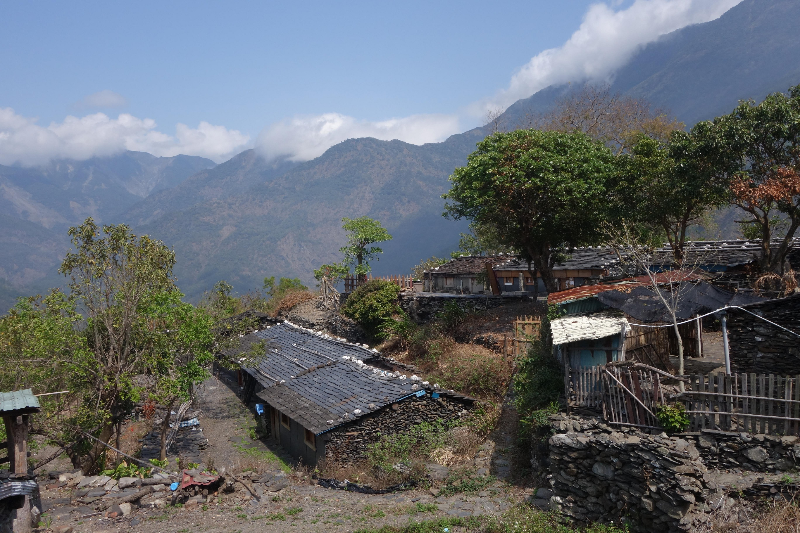 Paiwan village of slate houses in the mountains of...