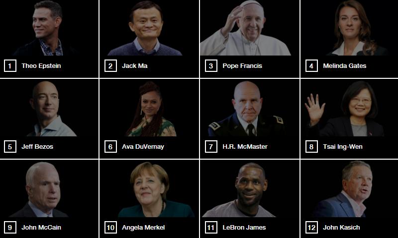 台灣總統蔡英文被《Fortune》評選為全球第8大領導人。(圖片來源:截圖自Fortune)