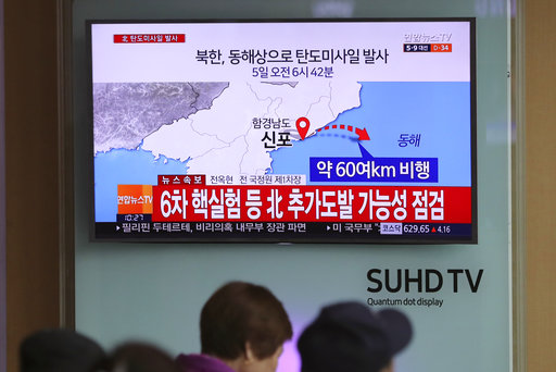 North Korea fires ballistic missile into its eastern waters