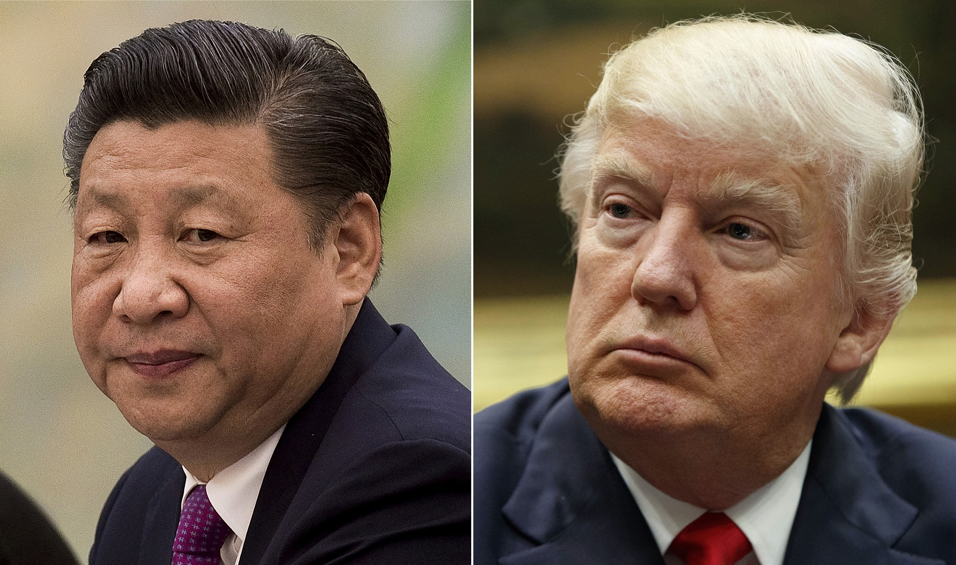 中國國家主席習近平與美國總統川普