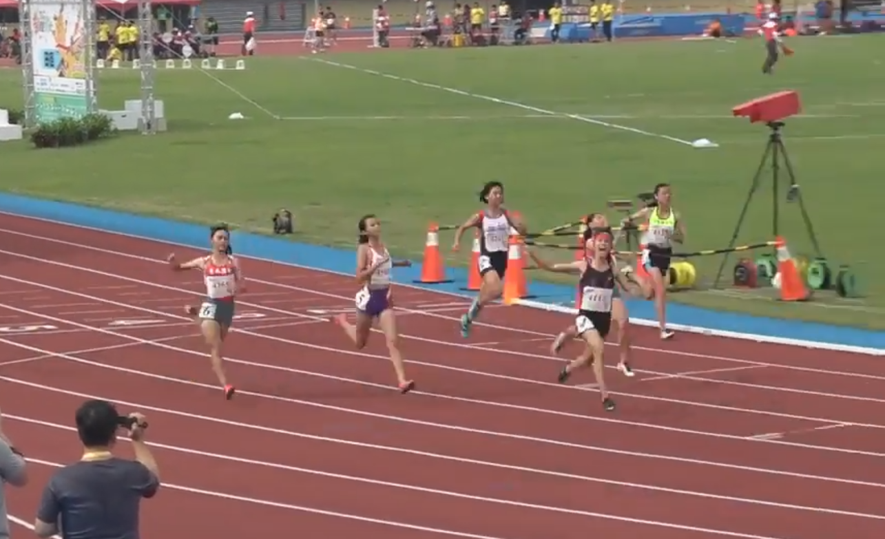 Amis runner Cheng Hsin-ying  (鄭歆瑩) smashes Taiwan girl's 100 meter sprint record
