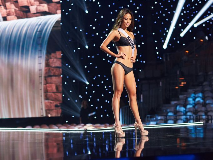 Miss Hawaii 2017 Julie Kuo during swimsuit competition. (Photo courtesy of Miss USA official website)