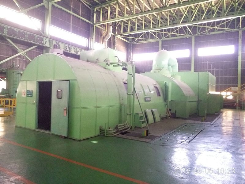 A natural gas generator manufactured by Siemens in a southern power plant in Taiwan.