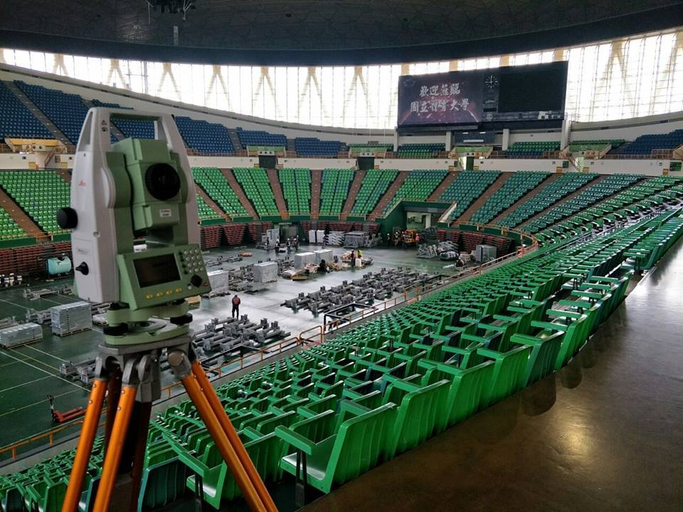 Taipei city turns gym field into swimming pool for Universiade