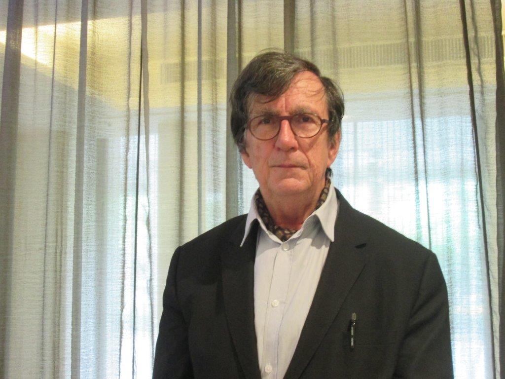 拉圖(Bruno Latour)表示,談到大自然、環境保育、氣候變遷,人們都不重視。 (記者林靜怡拍攝)