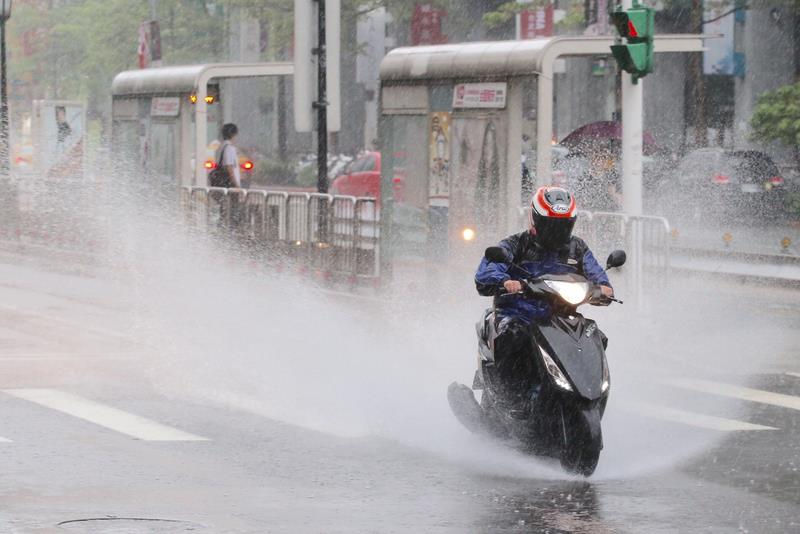 Rain forecast to ease up in central, southern Taiwan