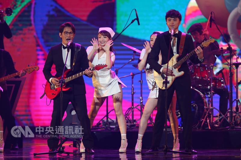 """Golden Melody performance featuring dancers in skimpy """"nurse"""" outfits."""