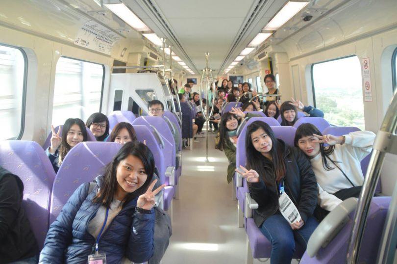 Passengers on the Taoyuan Metro