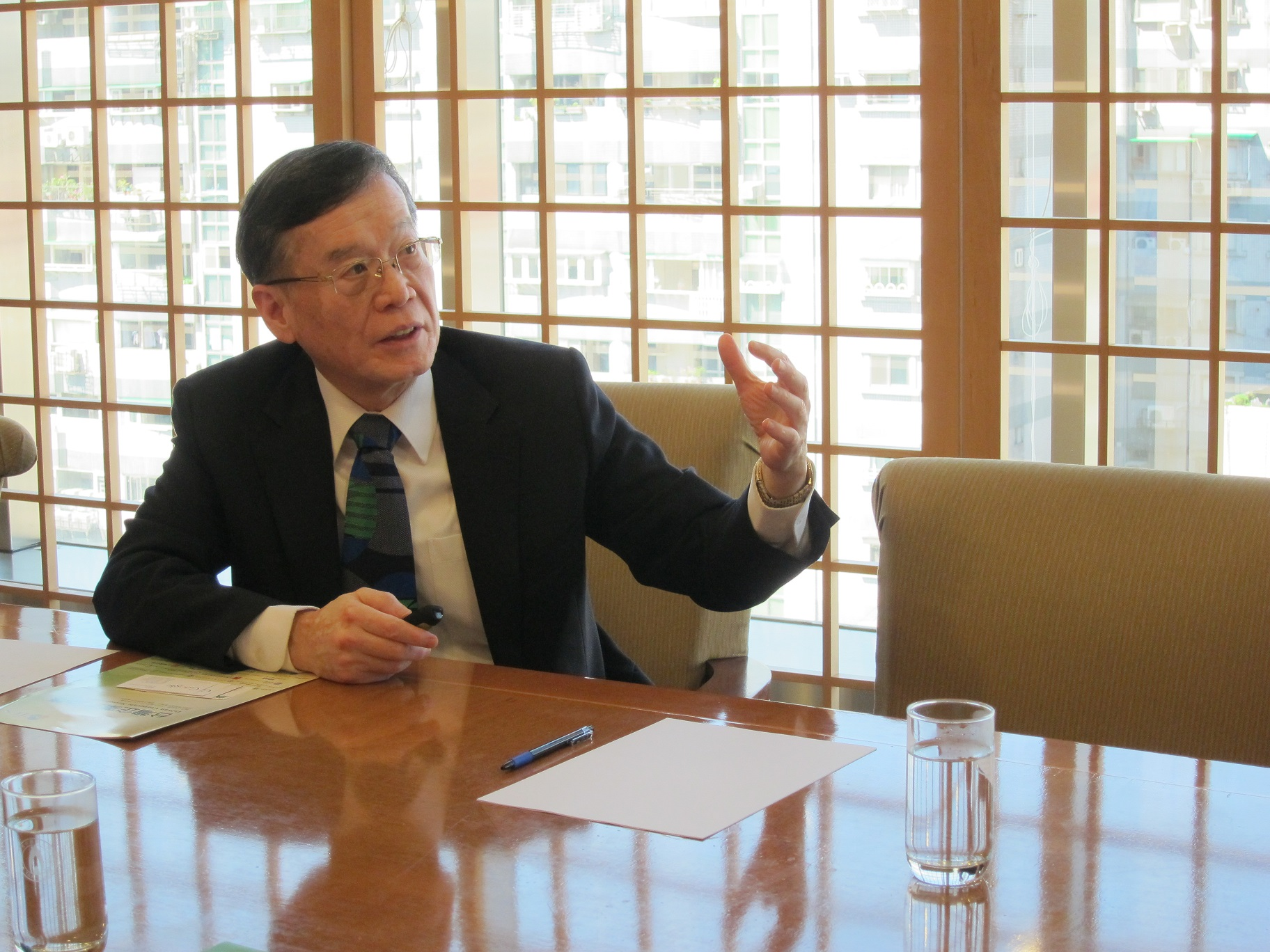 Former Foreign Minister and current chairman of the Taiwan Institute for Sustainable Energy Eugene Chien (簡又新) (Image from Tang Price Organization)
