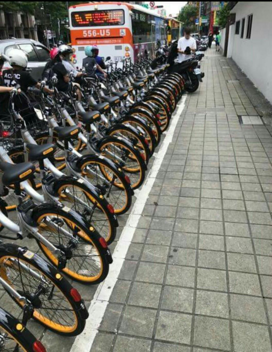 oBike Apocalypse: Netizens complain about orange horde of shared bikes covering Taiwan