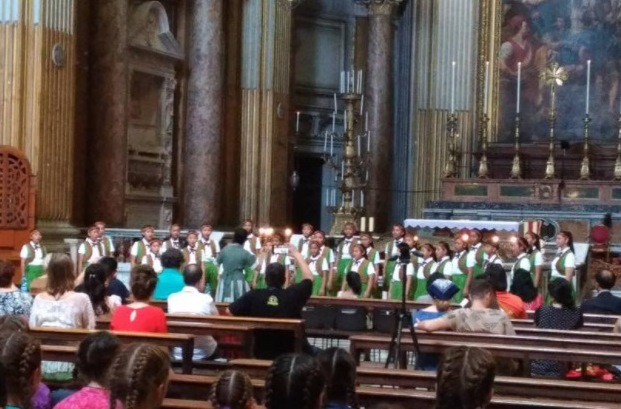 Puzangalan Choir delivers a first-place performance July 8 at Basilica dei Santi XII Apostoli in Rome.