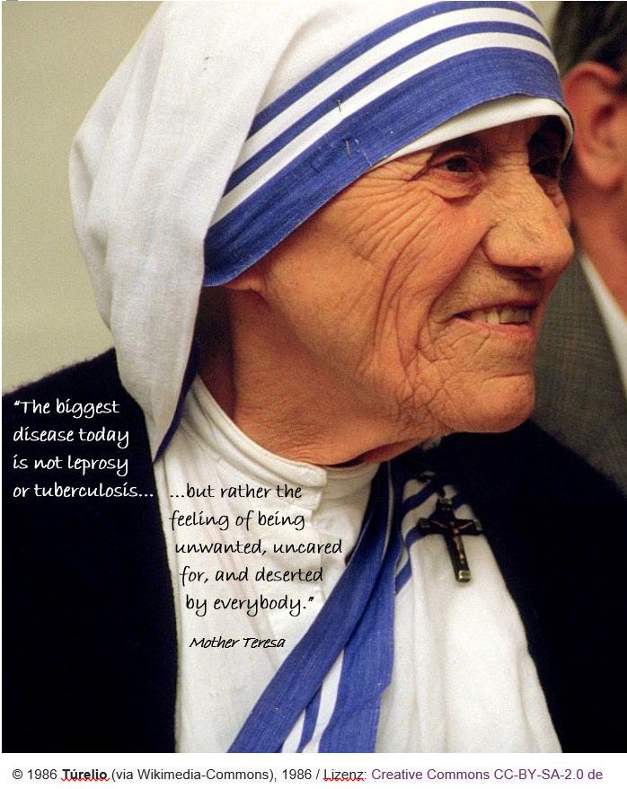 德蕾莎修女生前時常穿著的白底藍邊棉質莎麗(sari),近日被德蕾莎修女的前律師提出專利。(圖片來源:Flickr)