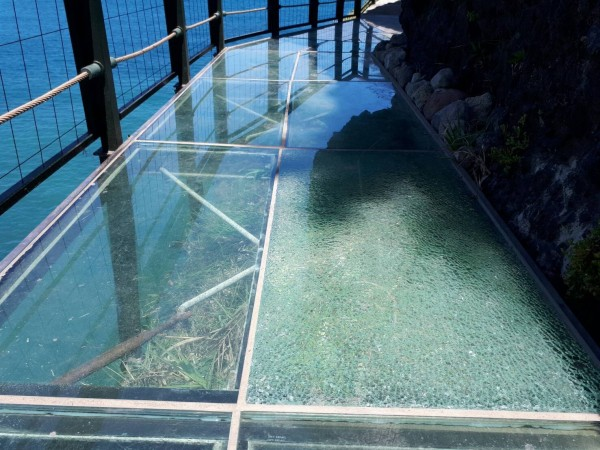 Cracks Appear In Glass Skywalk Above Pacific Ocean Taiwan A Man Was Seen Hitting The With Rock Reports By Matthew StrongTaiwan News