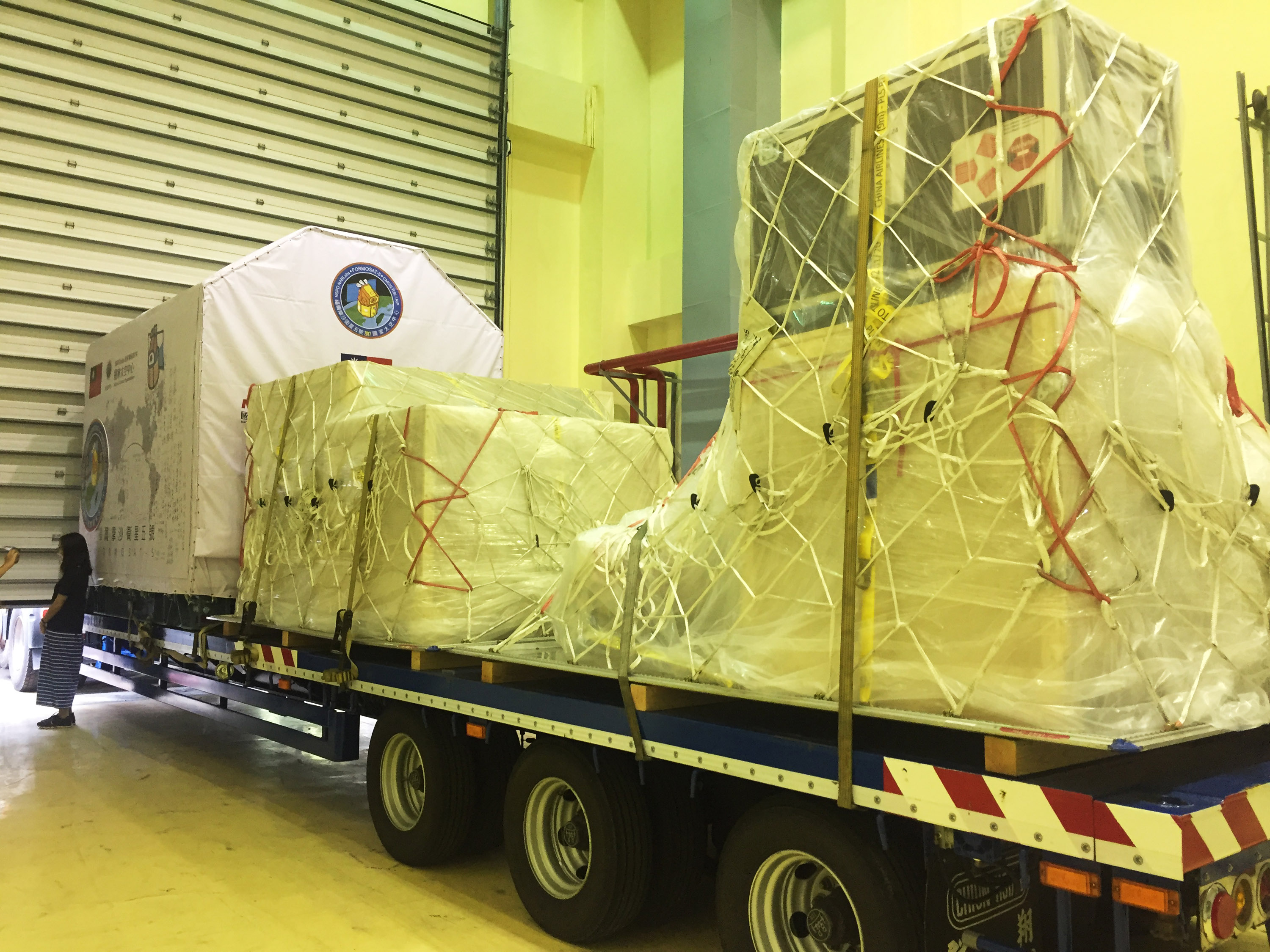 FORMOSAT-5 being prepared for its shipment to LAX.