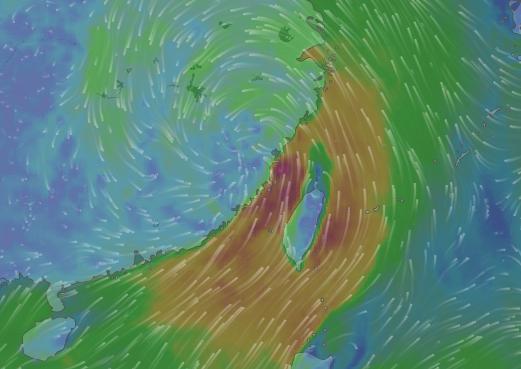 Typhoon Haitang. (Image from Windy.com)